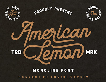 FREE | American Lemon Monoline Font