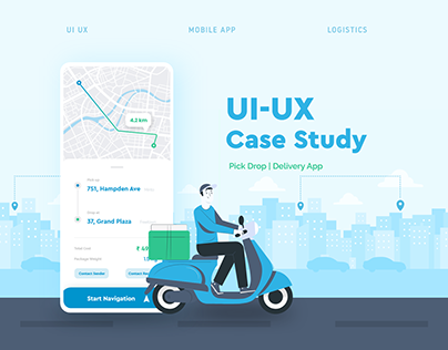 UI UX Case Study | PickDrop Delivery App