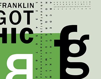 Franklin Gothic Typographic Poster Design
