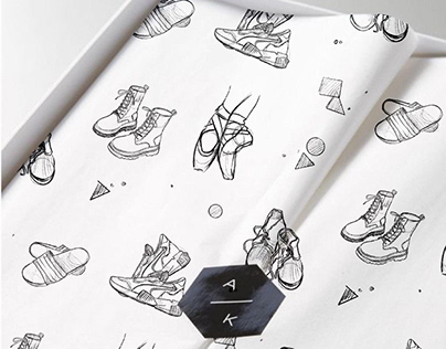 Seamless shoe pattern design