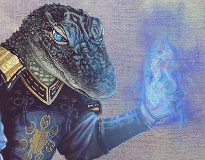 Meilosh Wizard - Illustration for RPG Heroes' Tears