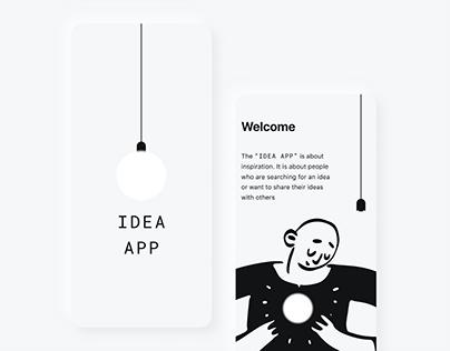 IDEA APP – mobile product design