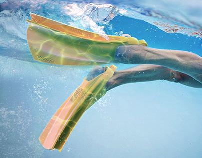 HOOG swimming flippers