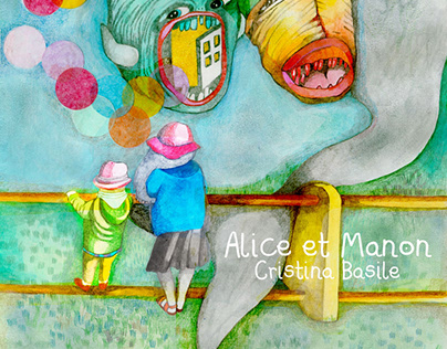 """Alice et Manon"" fake book cover, personal project"