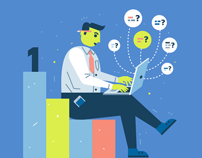 """Illustrations for """"How It Works"""" section for speevr.com"""