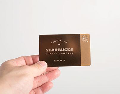 Limited Edition GILT Rose Gold Starbucks Card