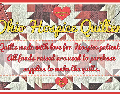 Sign for Ohio Hospice Quilters
