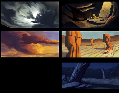 1 Hour Environment Sketches