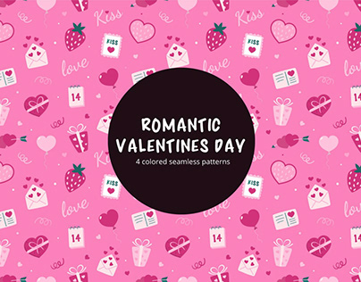 Free Vector Romantic Valentines Day Pattern