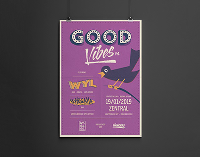 """""""GOOD VIBES"""" - event posters"""