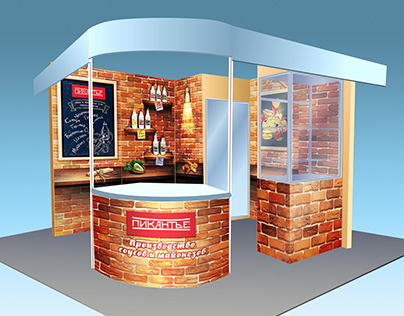 Exhibition stand for manufacturer of sauces for fast fo