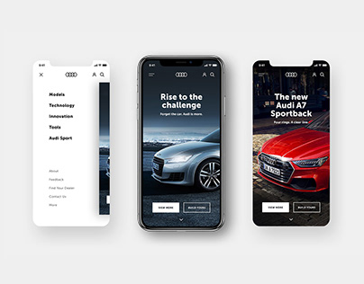 UI/UX concept:Audi