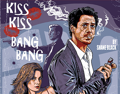 Kiss Kiss Bang Bang screenprint movie commission
