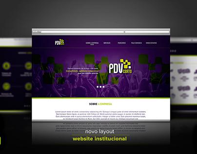 Novo Site Institucional - PDV Certo