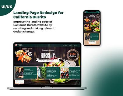 Landing Page Redesign for California Burrito