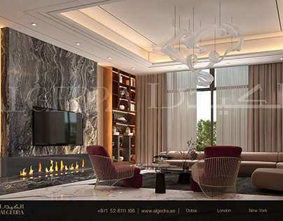 Luxurious and Modern Living Room Design by ALGEDRA