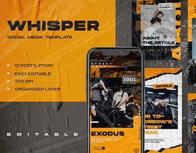 Whisper Social Media Template