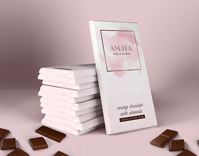 Orange Chocolate with Almonds Product Packaging