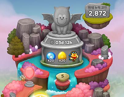 LINE Bubble2 (Treasure Island)- Game UI Design