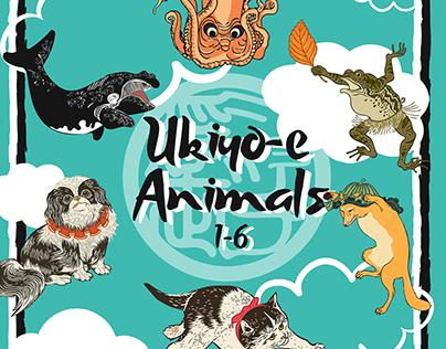Ukiyo-e Animals 1-6