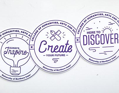 UNI Laptop Stickers