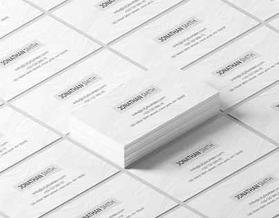 Sample Minimalist Business Card Design