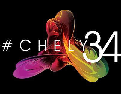 Identidade Visual Aniversário #Chely34
