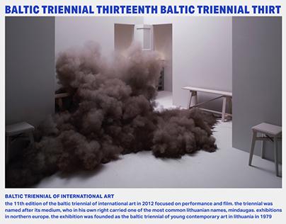 Baltic Triennial Website