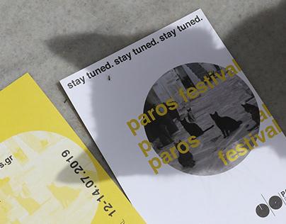 Paros festival flyer