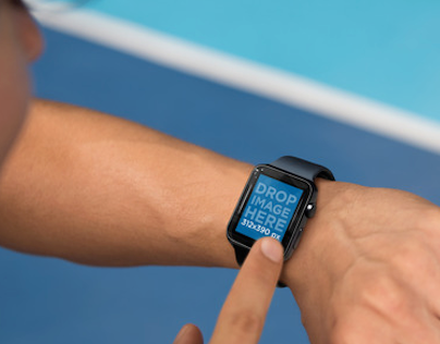 Apple Watch Mockup of a Man Exercising