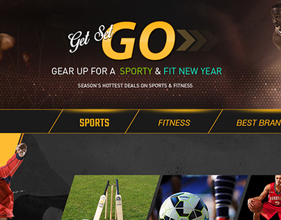 Sports and fitness landing page