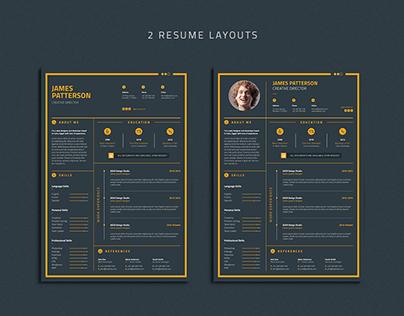 Resume, Cover letter & Portfolio page