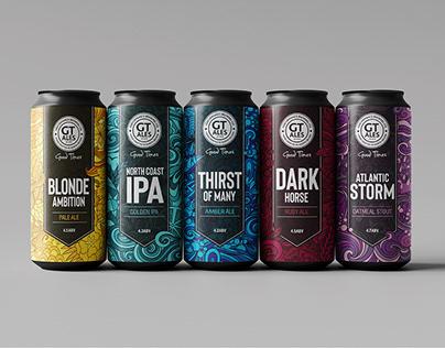 Pattern design for beer packaging