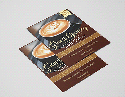Letter Size Flyer with free mockup