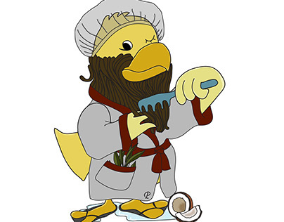 Perry's Beard Essentials - Character design - Branding