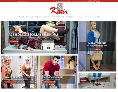 Site institucional de loja de roupa local