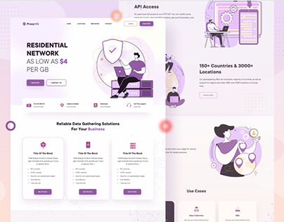 Homepage Design for Networking Company