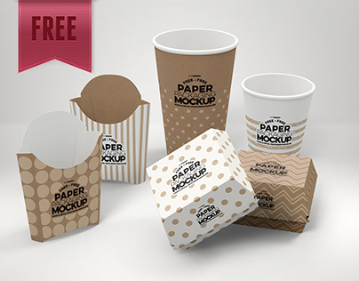 FREE Fast Food Packaging Mockup - UPDATED