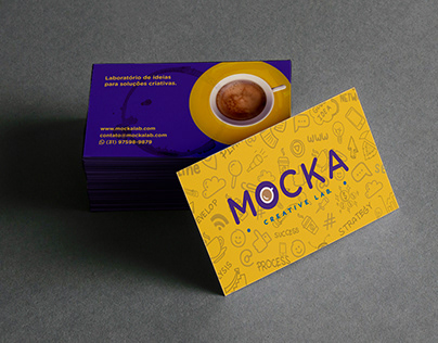 Logo e papelaria Mocka Creative Lab