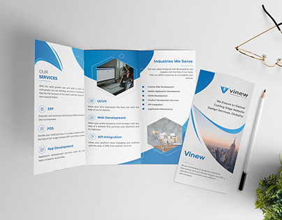 Trifold Broacher for Vinew Technologies