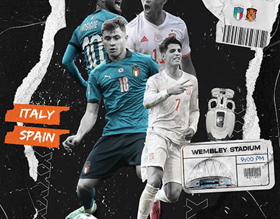 Italy x Spain Semi-Final Matchday Poster