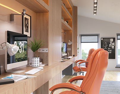 Proposal interior design for a home office