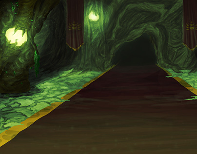 'Hall of the Divine' Background Painting