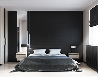 Design-project of penthouse. Part 3 - guest room