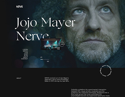 Jojo Mayer — Website Redesign