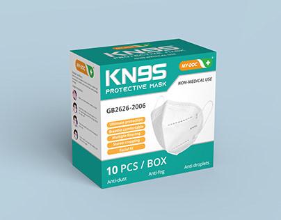 KN95 mask packaging design
