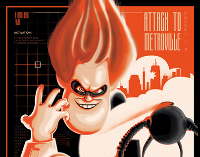 The Incredibles | Attack to Metroville