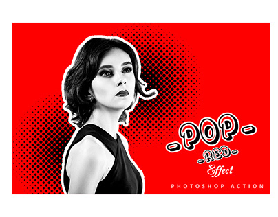 Pop Red Effect Photoshop Action