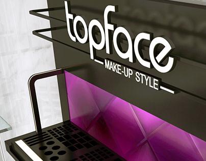 Topface cosmetics store shelf