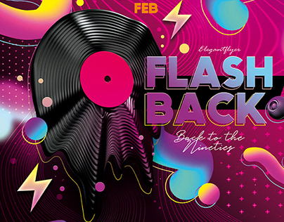 Flash Back – PSD Flyer Template